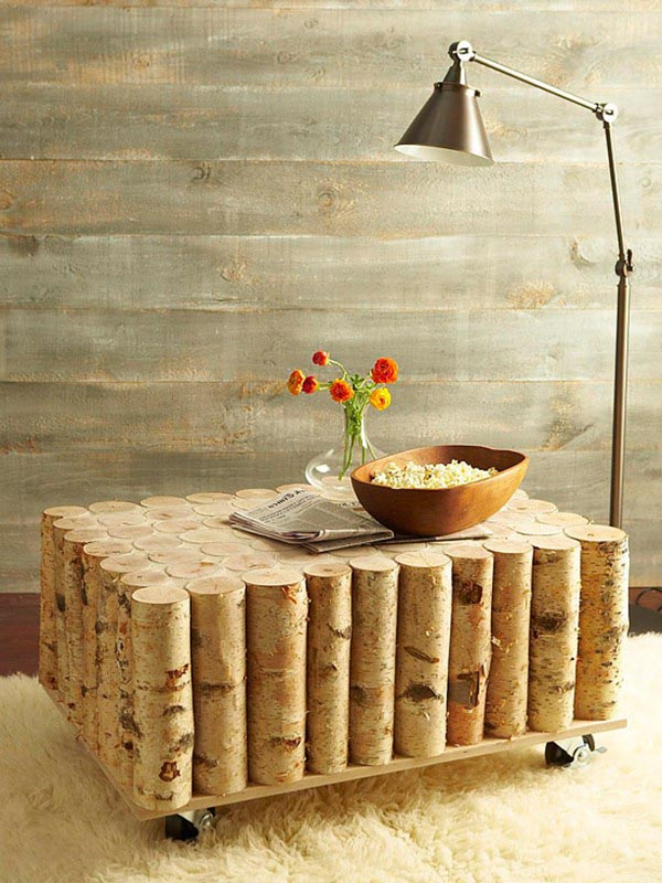 birch log coffee table coffee table design ideas