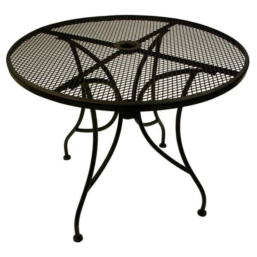 Black Metal Patio Coffee Table