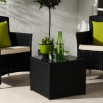 Black Rattan Coffee Table