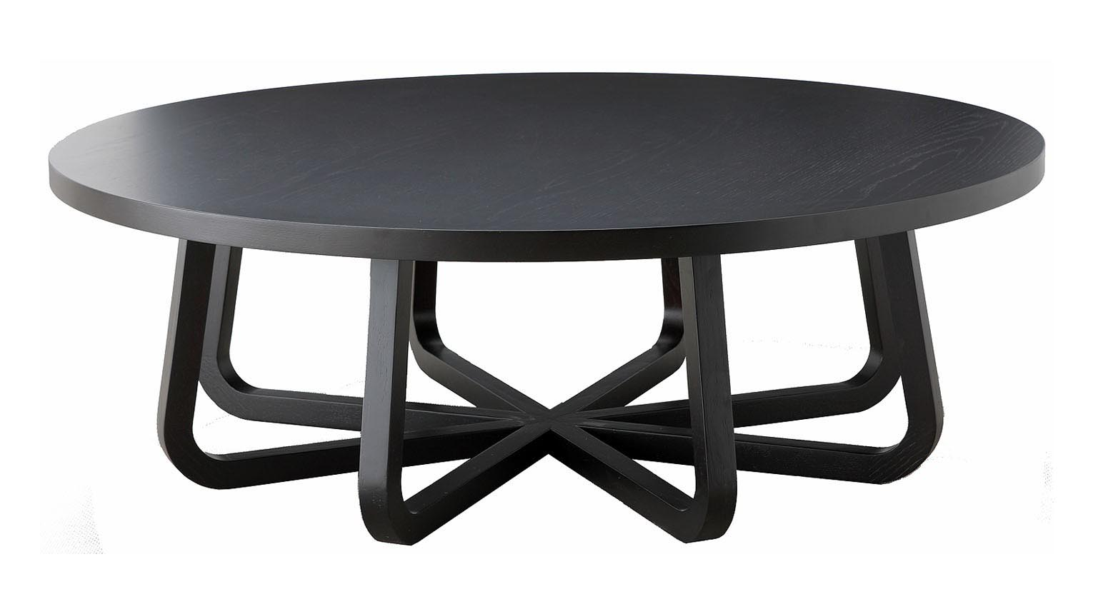 Black round coffee table coffee table design ideas for Round glass coffee table top