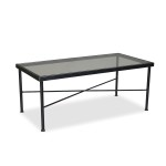 Black Wrought Iron Patio Coffee Table