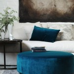 Blue Coffee Table Ottoman