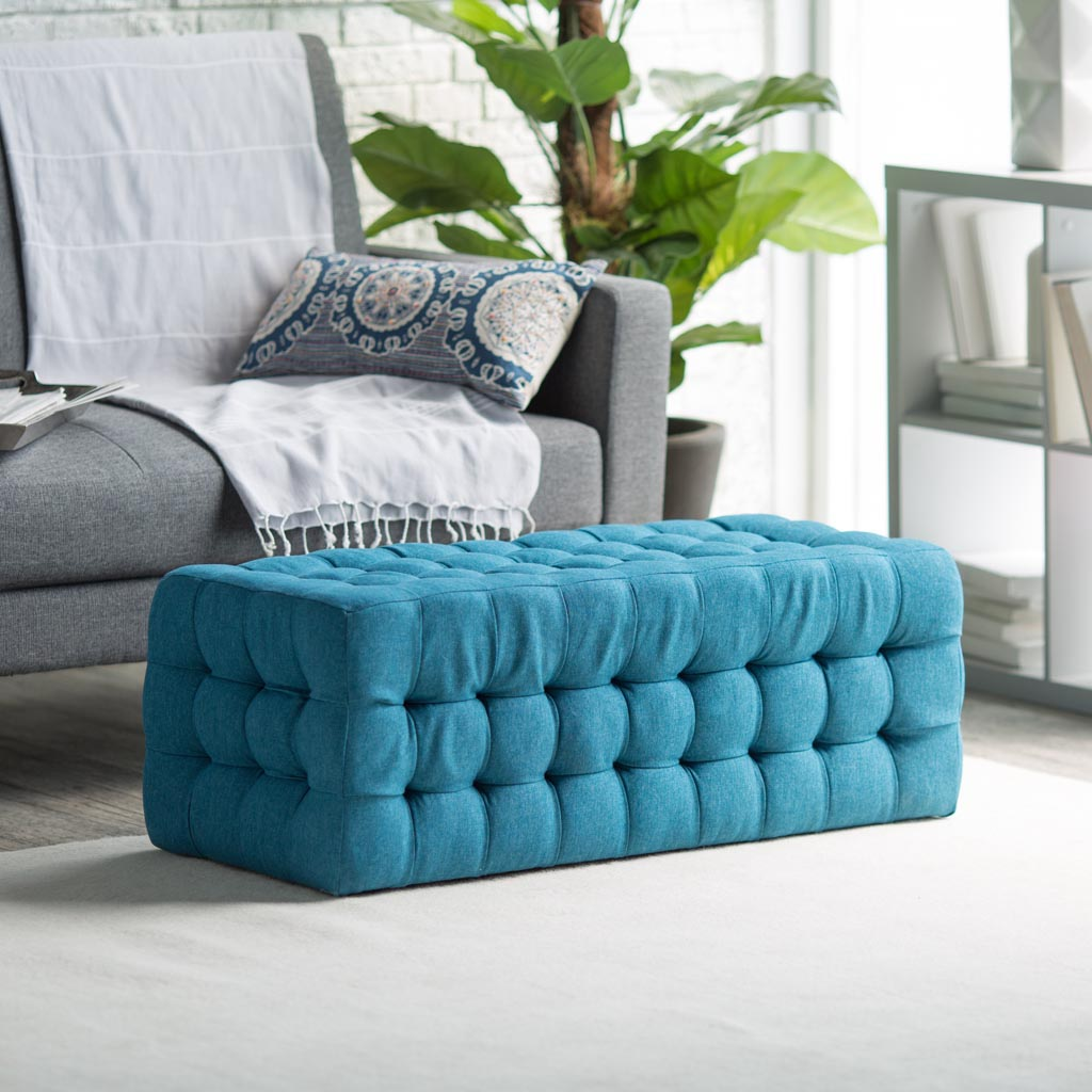 Blue Ottoman Coffee Table