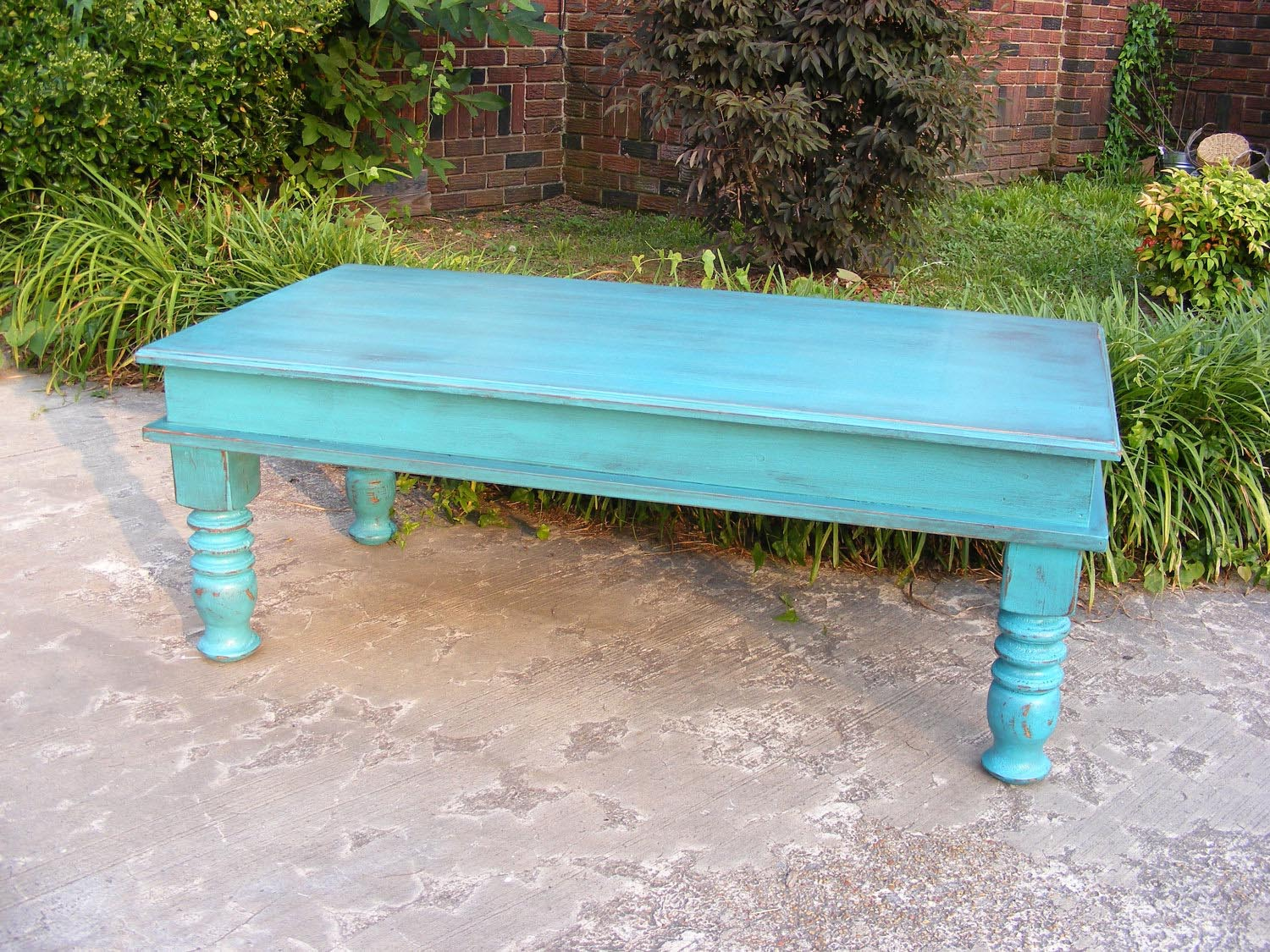 Blue Painted Coffee Table Coffee Table Design Ideas