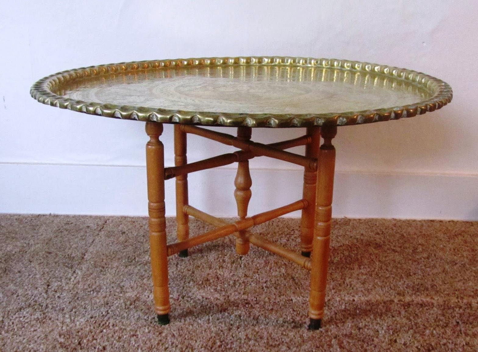 Brass Moroccan Coffee Table