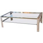 Brushed Steel Coffee Table
