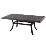 Cast Aluminum Patio Coffee Table