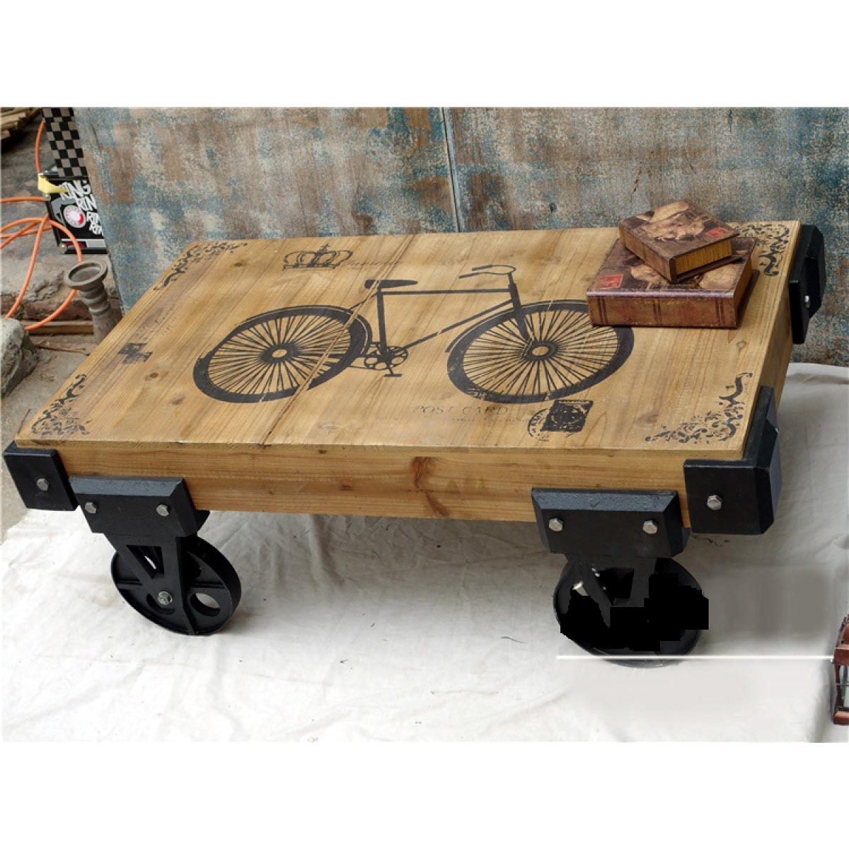 Cast Iron Wheels For Coffee Table Design Ideas