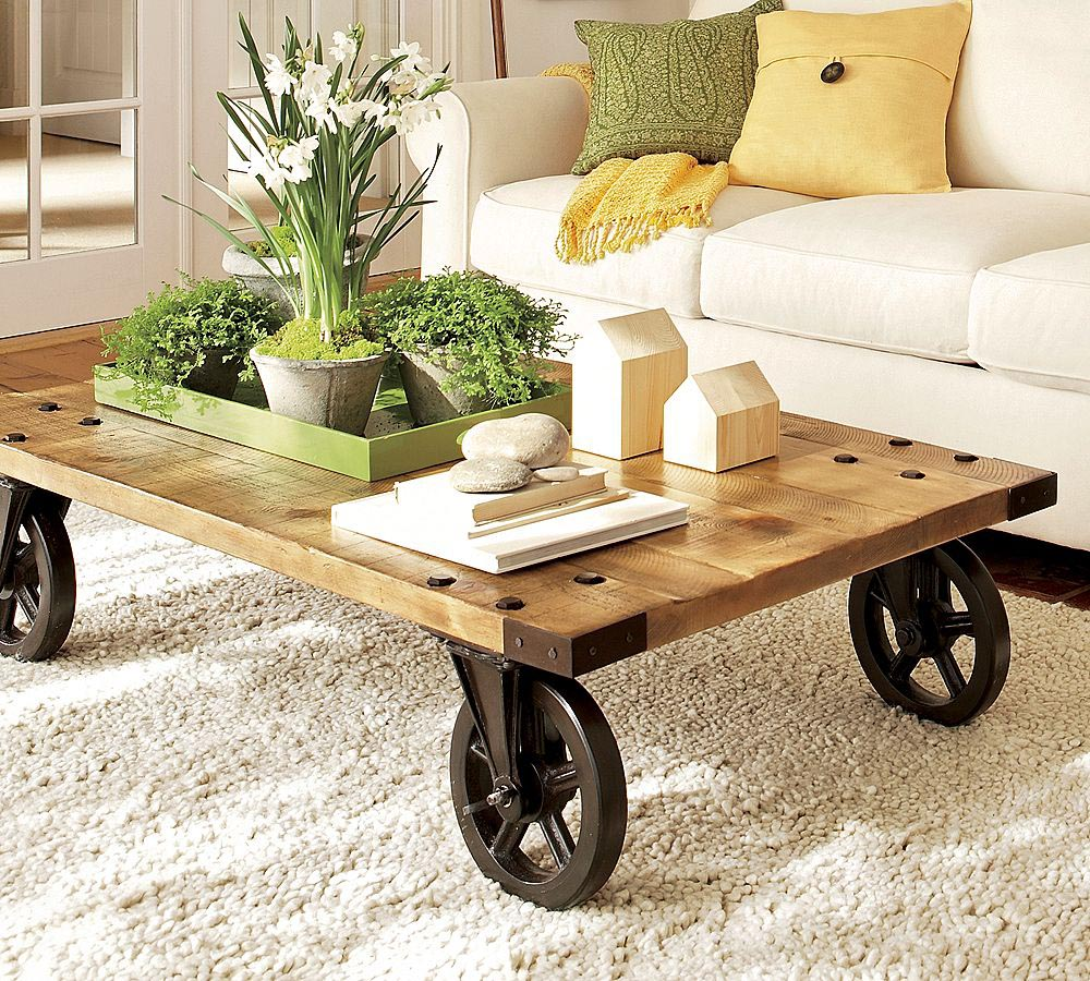 Caster Wheel Coffee Table