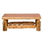 Cedar Log Coffee Tables