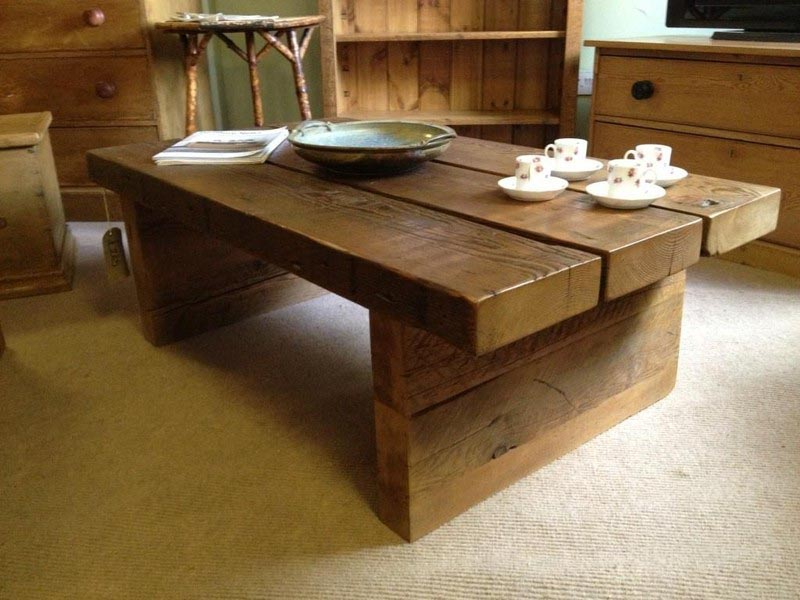 Chunky Pine Coffee Table Coffee Table Design Ideas