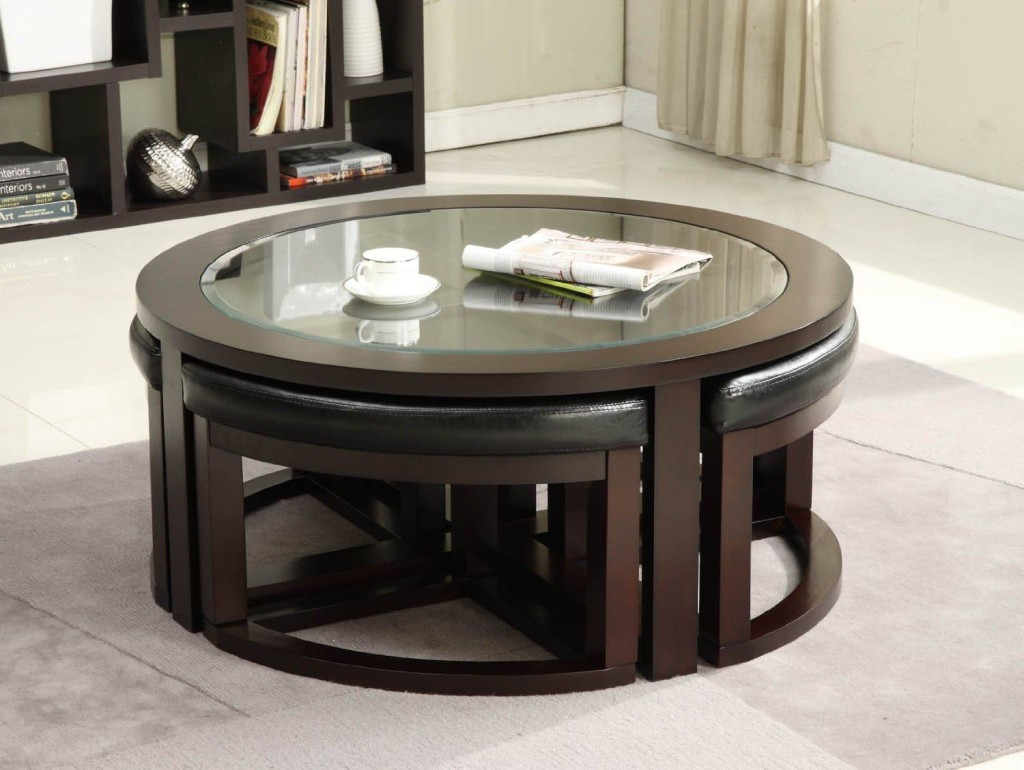 Circle Coffee Table with Seats