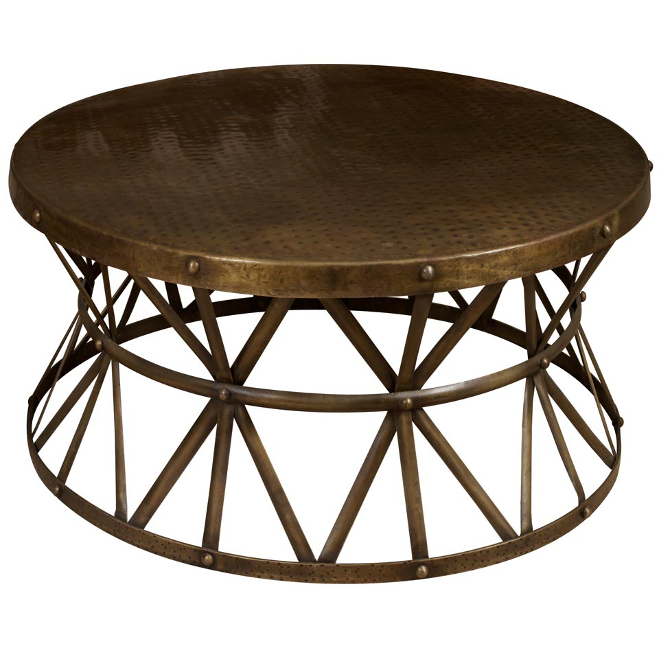 Circle metal coffee table coffee table design ideas Round espresso coffee table