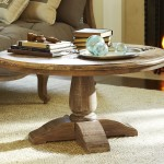 Circle Wood Coffee Table