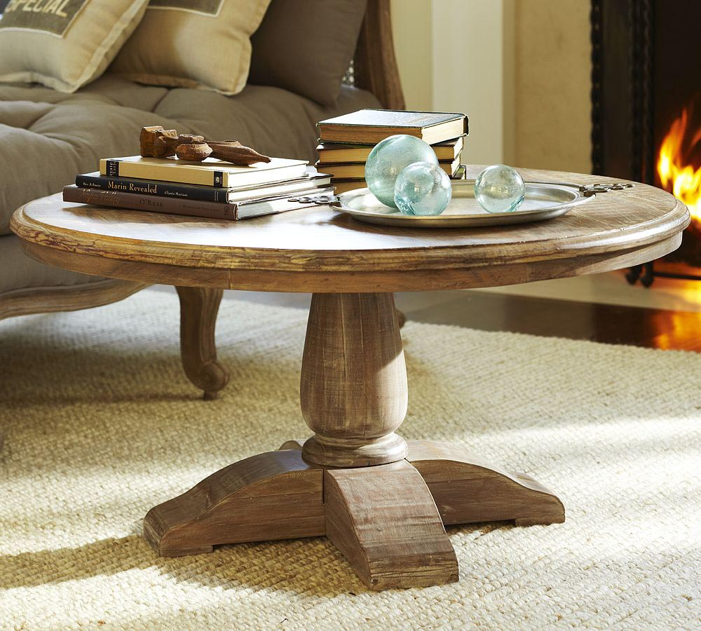 Circle Wood Coffee Table