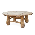 Circle Wooden Coffee Table