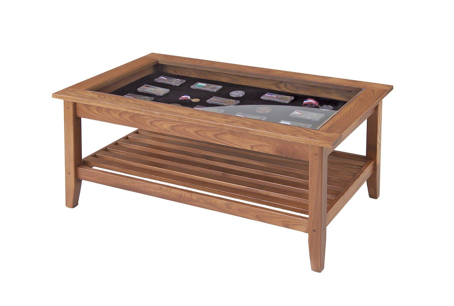 Coffee table display case glass top coffee table design for Display coffee table