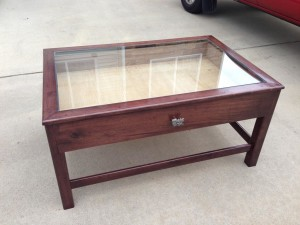 Coffee Table Glass Top Display