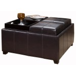 Coffee Table Leather Ottoman