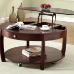 Coffee Table on Wheels with Storage