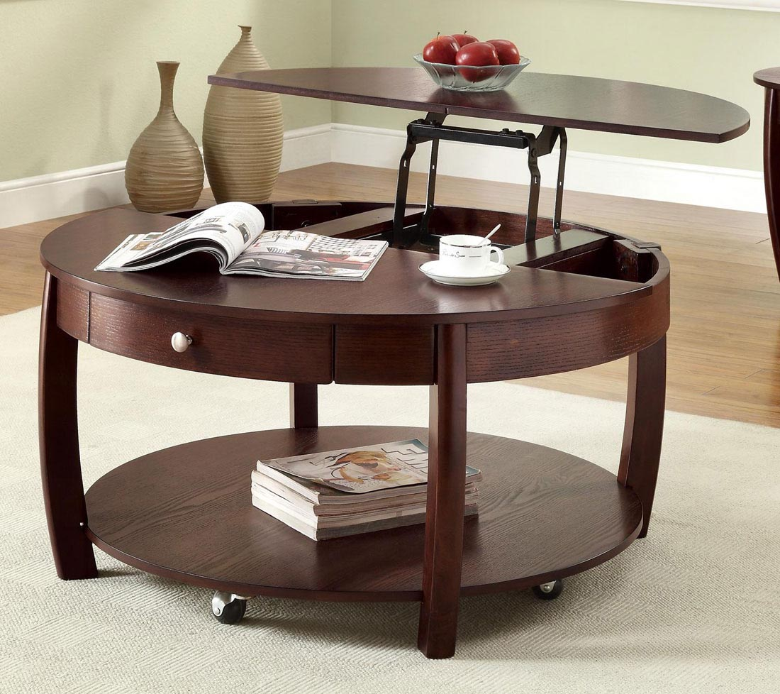 Coffee table on wheels with storage coffee table design for Coffee tables on wheels