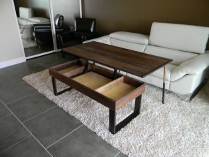 Coffee Table with Adjustable Height