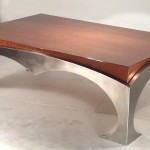 Coffee Table with Stainless Steel Legs