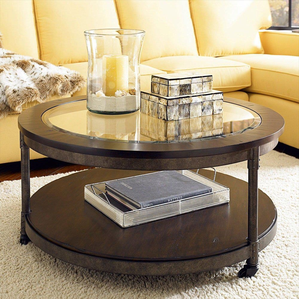 Coffee Table with Wheels and Storage