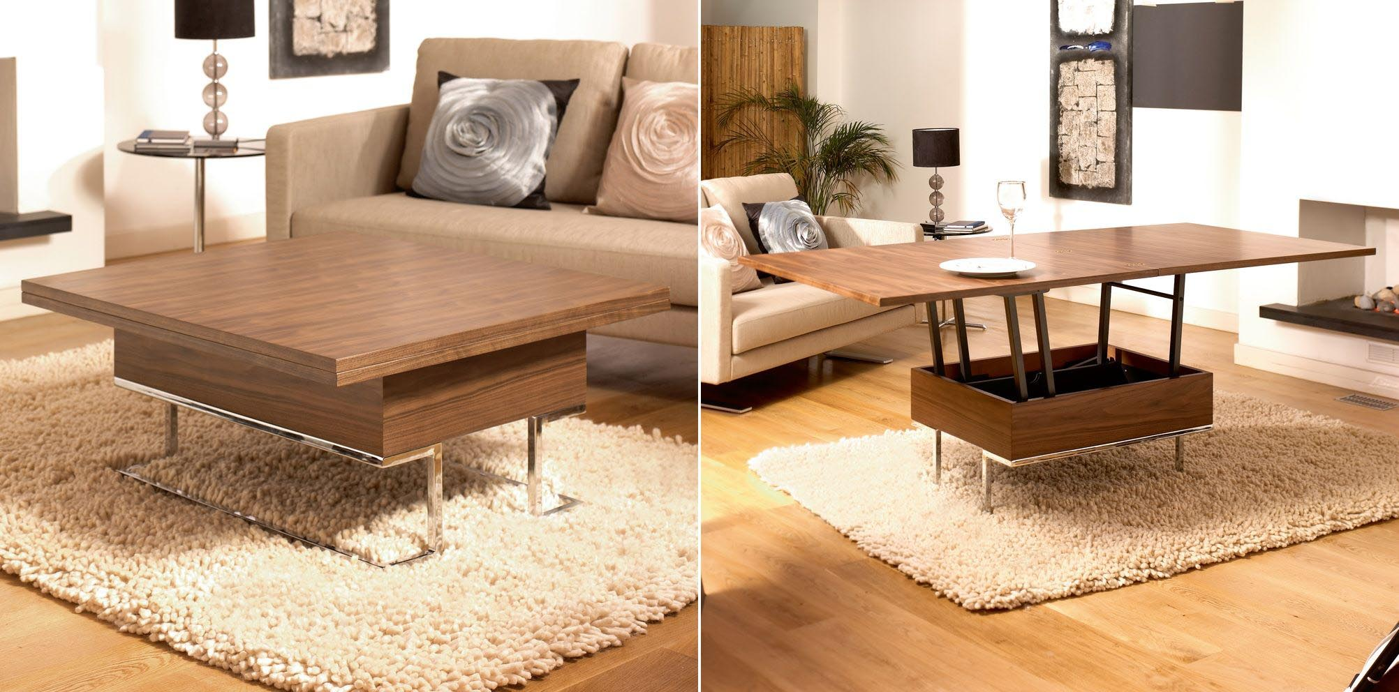 Convertible coffee table to dining room table coffee for Table transformable