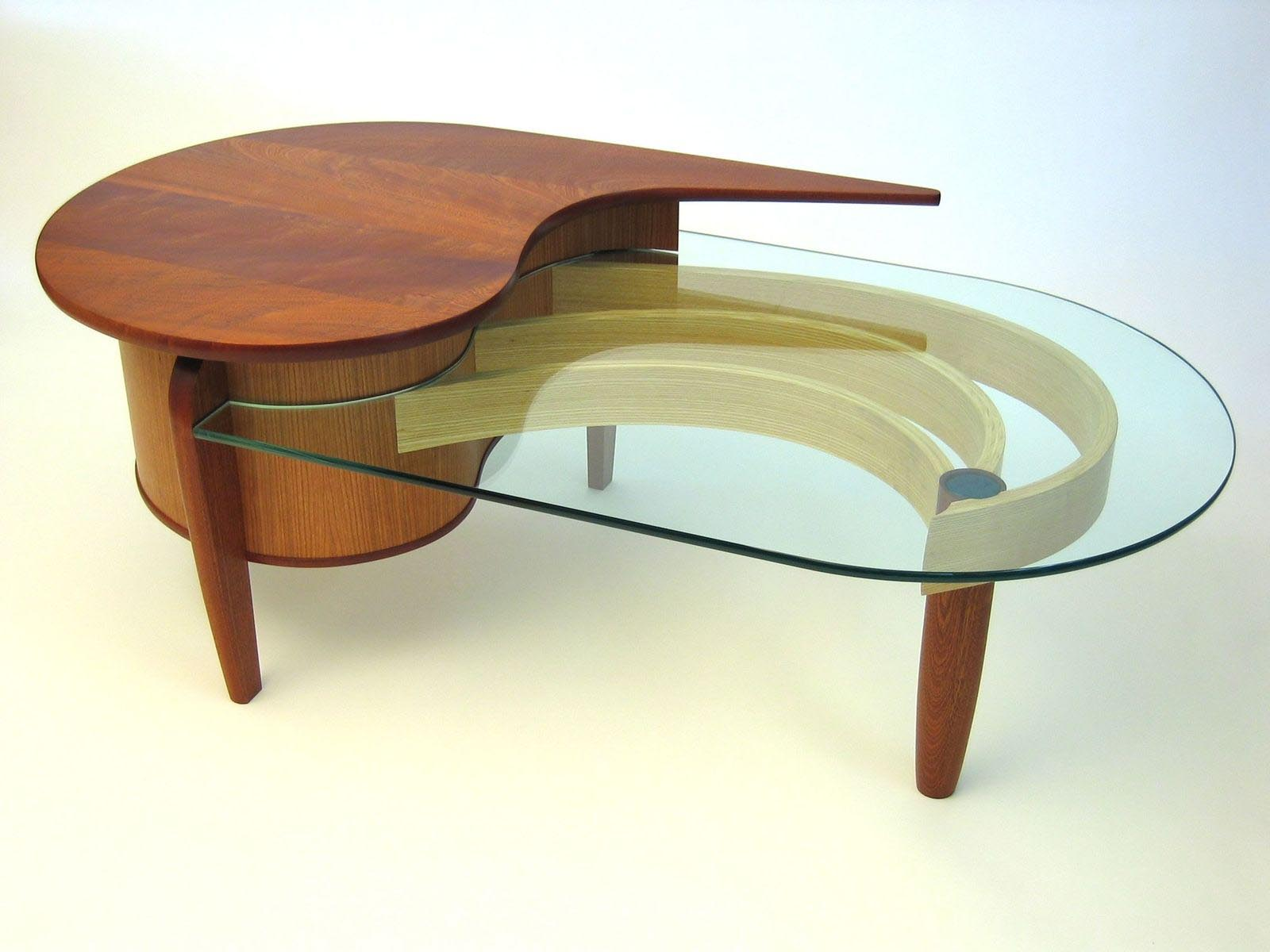 Custom coffee table glass design ideas
