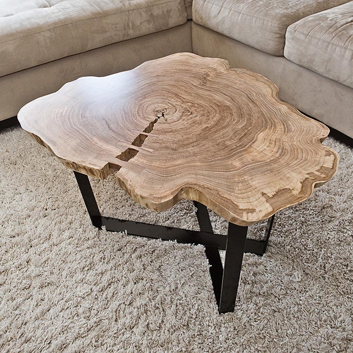 Cut Log Coffee Table Design Ideas