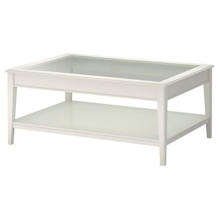 Display Coffee Table with Glass Top