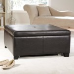 Faux Leather Ottoman Coffee Table
