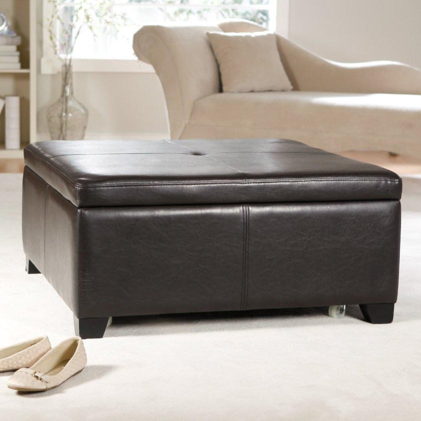 Faux Leather Ottoman Coffee Table Coffee Table Design Ideas