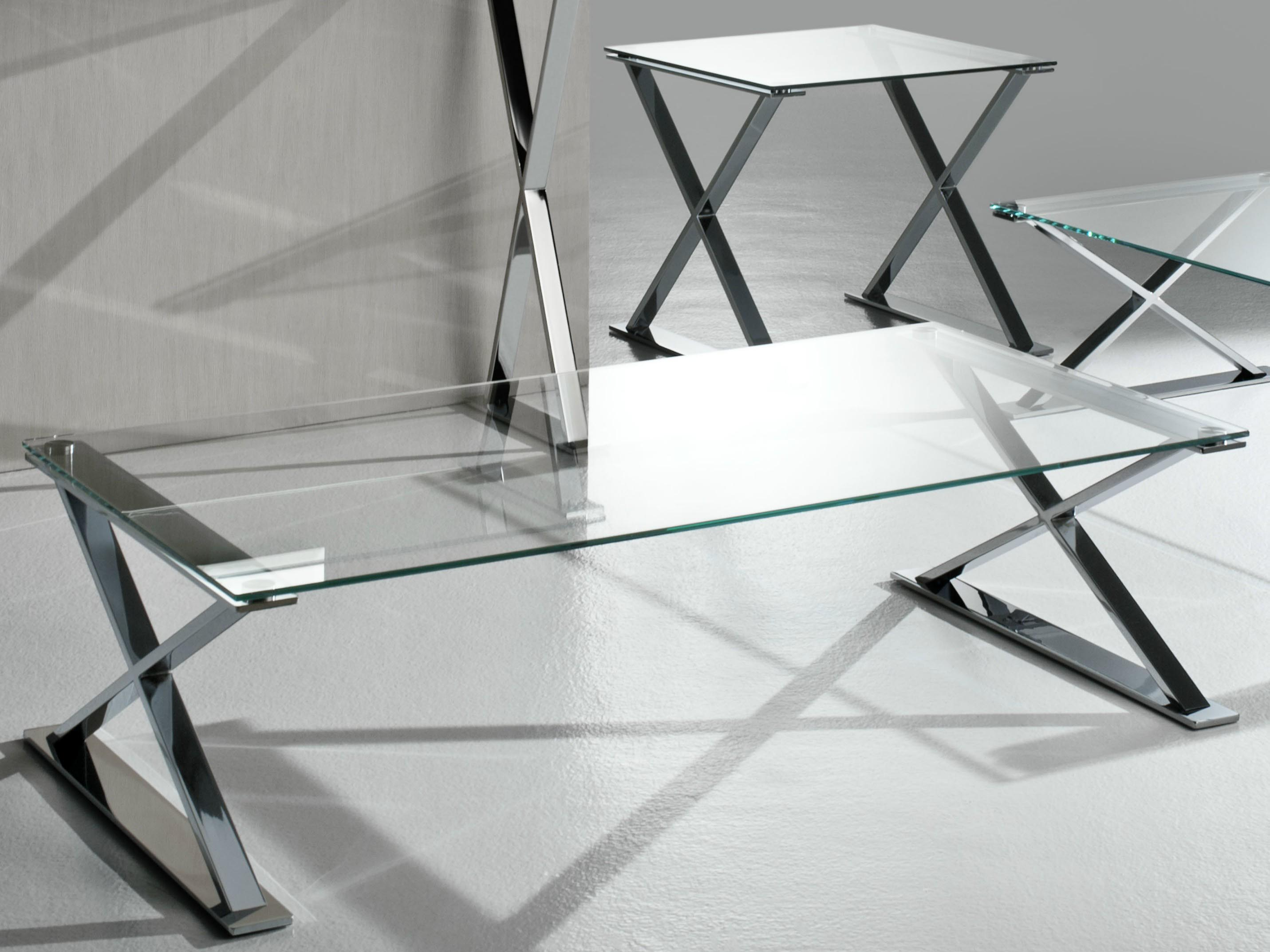 Glass and stainless steel coffee table coffee table design ideas Steel and glass coffee table