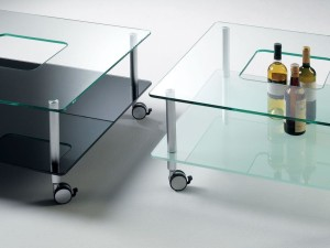 glass coffee table wheels