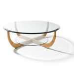 Glass Coffee Table Wood Base