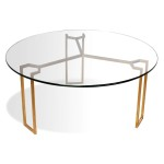 Glass Gold Coffee Table