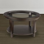 Glass Top Circle Coffee Table