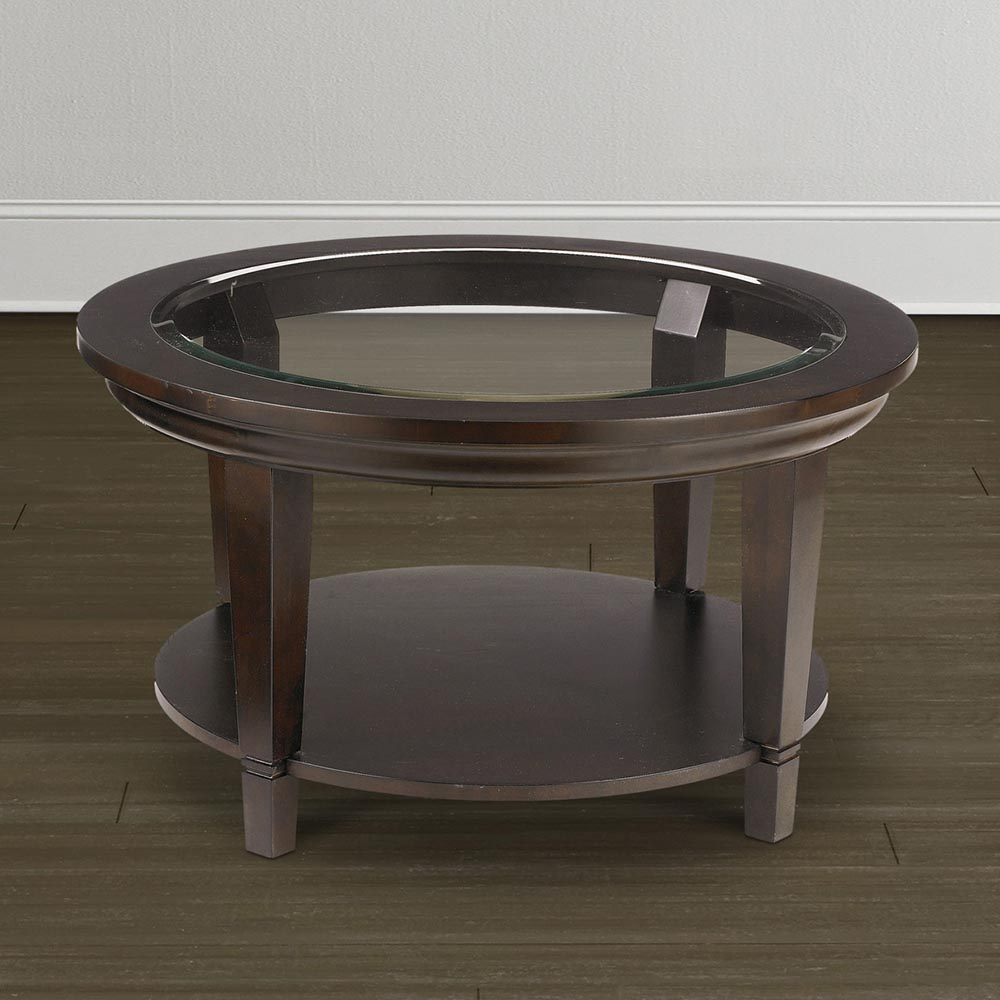 Glass Top Circle Coffee Table