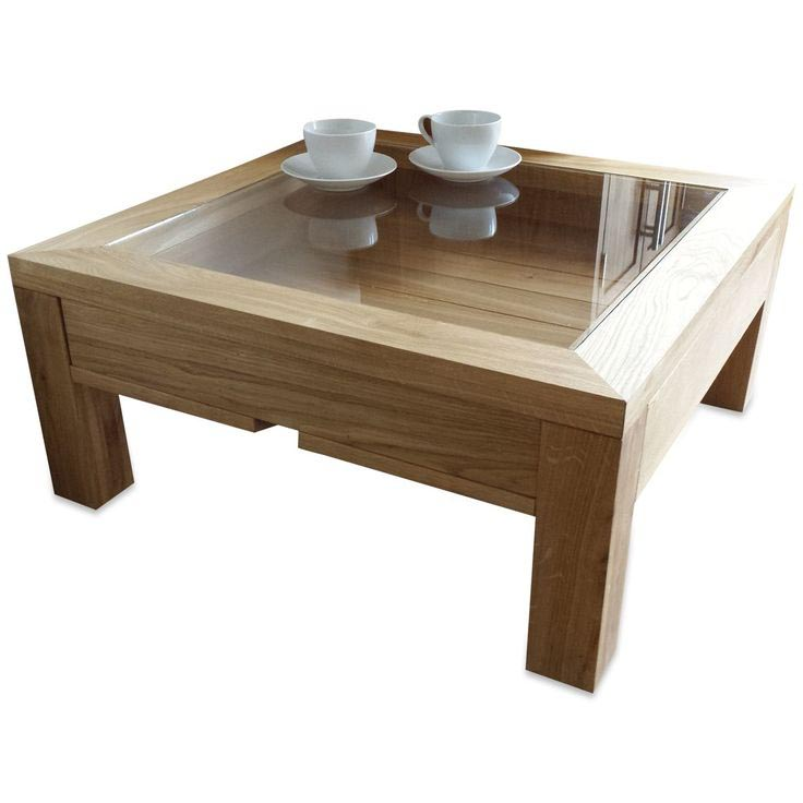 Glass Top Coffee Tables: Glass Top Coffee Table With Display Drawer