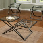 Glass Top Coffee Tables with Metal Base