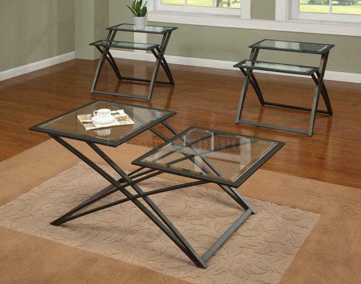 Glass Top Coffee Tables With Metal Base Table