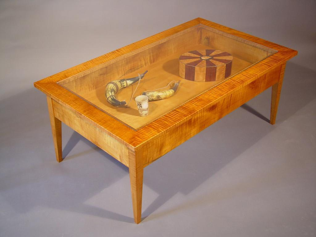 Gl Top Display Coffee Table With Drawers Design