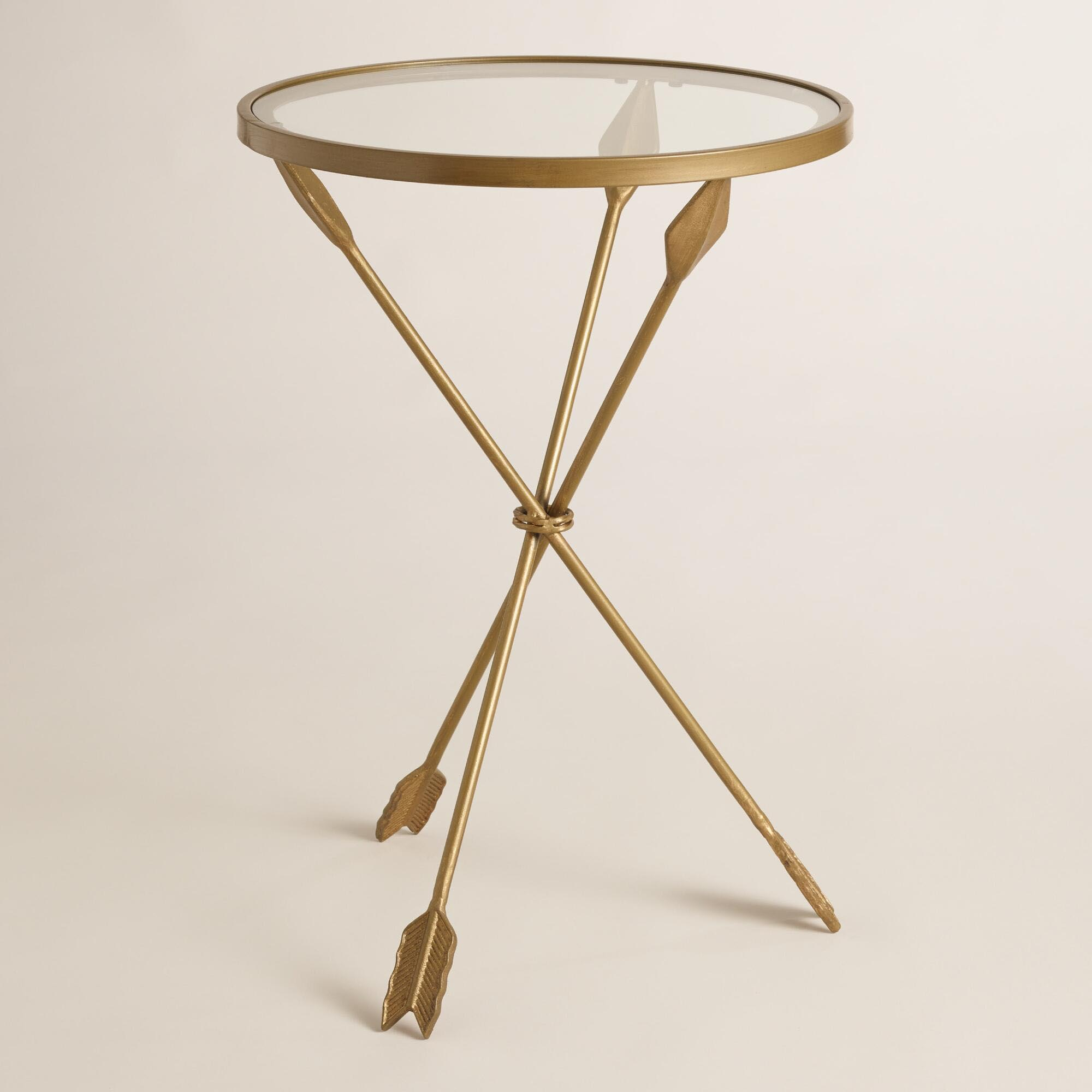 Gold Accent Coffee Table