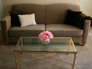 Gold and Glass Coffee Table