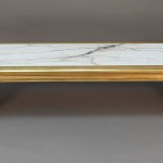 Gold and Marble Coffee Table