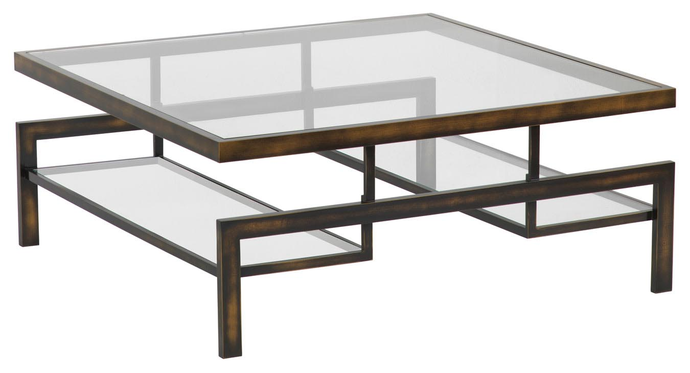 Gold Coffee Table Glass Top