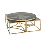 Gold Finish Coffee Table