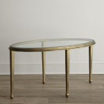 Gold Frame Glass Coffee Table